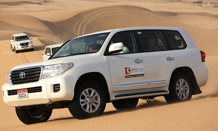Abu Dhabi Exclusive Half Day Safari Including 4x4 Pick Up and BBQ buffet from Emirates Tours & Safari (Up to 51% Off)